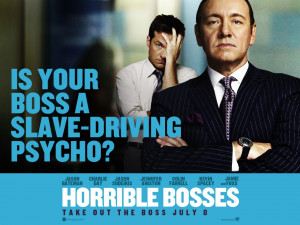 Horrible Bosses Film Poster Jason Bateman Kevin Spacey