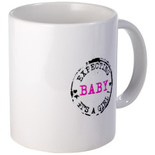Expecting Baby - Its A Girl Mugs for