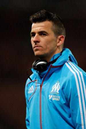 Joey Barton Joey Barton of Marseille looks on prior to the French Cup
