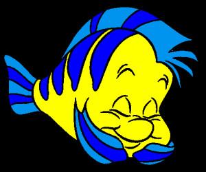 ... Sidekick - Flounder from The Little Mermaid. He is sooooo cuutee