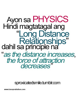 ... The Force Of Attraction Decreases - Long Distance Relationship Quote