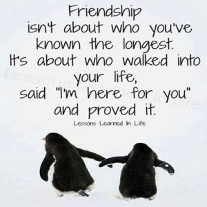 Friendship, I'm here for you.