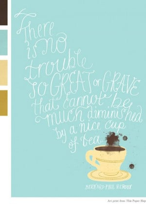 Graphics, tea quote.