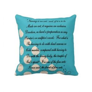Please! Nurse Graduation Pillow Florence Nightingale Quote