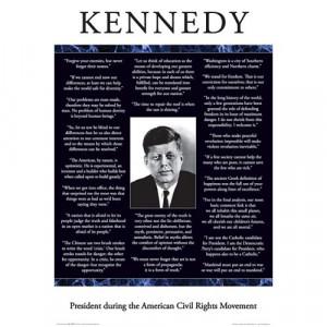 Aquarius Kennedy Quotes Poster $ 7.99
