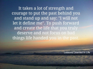 Put the past behind you.