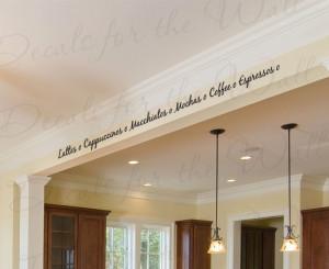 Coffee Latte Cappuccino Espresso Kitchen Wall Decal Quote