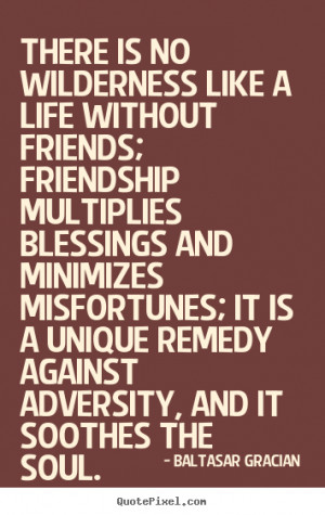 quotes about friendship by baltasar gracian make your own quote ...