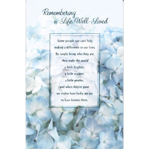 10 Lovely Funeral Card Messages (UK Version)
