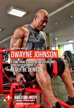 Dwayne Johnson Workout Quotes
