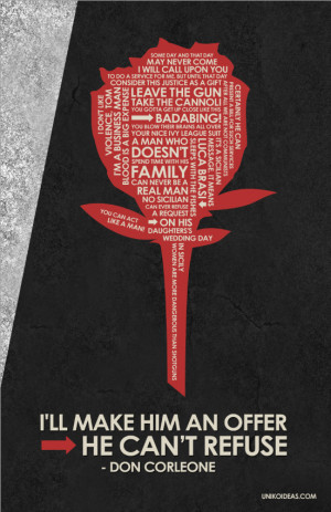 The Godfather Trilogy Godfather quote poster