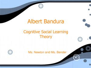 Albert Bandura - PowerPoint