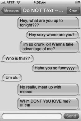 Real Live College Guy: Drunk Texting