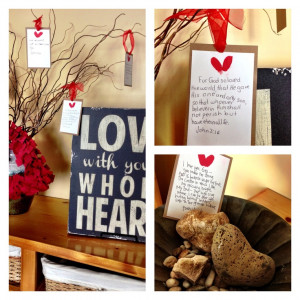 Valentine art! Fingerprint hearts and verses from The Bible about love