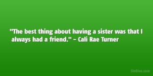 Cali Rae Turner Quote