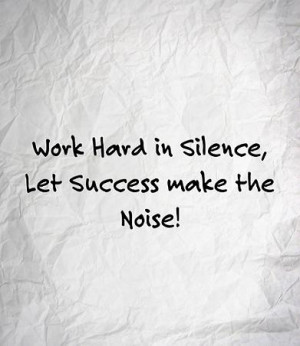 working hard quote success