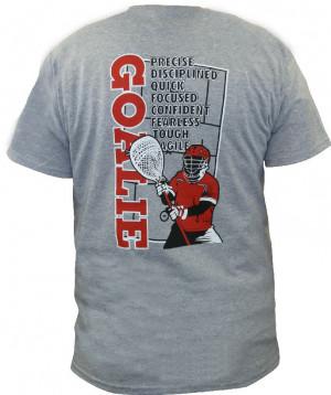 Lax Unlimited GOALIE Lacrosse T Shirt -Grey