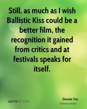 Donnie Yen - Still, as much as I wish Ballistic Kiss could be a better ...