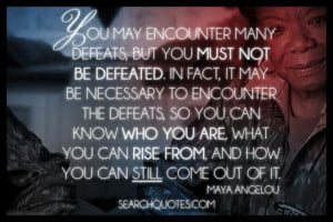 Defeats are part of self discovery
