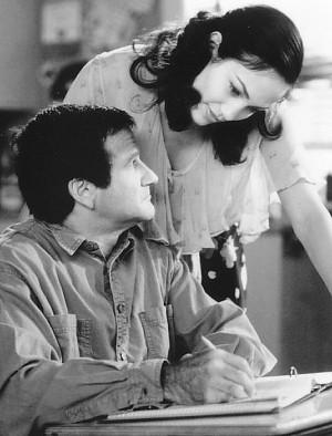 Still of Jennifer Lopez and Robin Williams in Jack (1996)