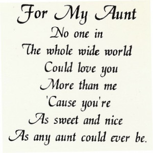 Aunt Quotes And Poems