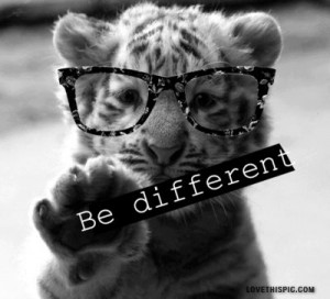 So cute!!!! Love the saying!!! Totally me; I love to be different!