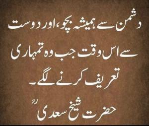 Quotes of Shaikh Saadi (rh)