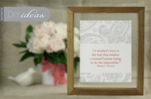 DIY Mother's Day Gift: Framed Quote