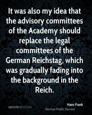 Hans Frank Legal Quotes