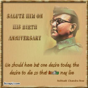 Showing Gallery For Subhash Chandra Bose Quotes in Hindi Language