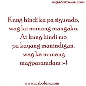 Pangako tagalog quotes Pamatay na Banat and Mga Patama Love Quotes