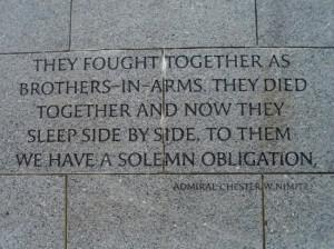National World War II Memorial Photo: Admiral Nimitz quote