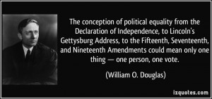 The conception of political equality from the Declaration of ...