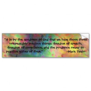 tie dye quote from Mark Twain Bumper Stickers