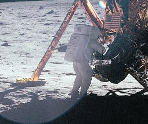 ... LM. This photograph was taken as part of Buzz Aldrin's Plus-Z panorama