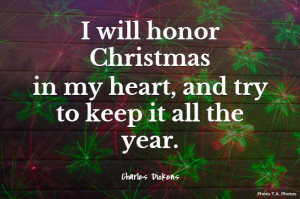 Charles Dickens Quote about Christmas