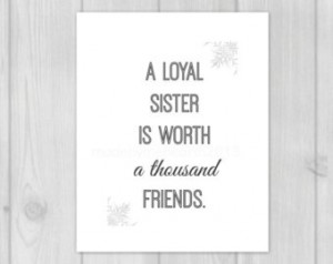 Gifts Sister Quote Wall Art