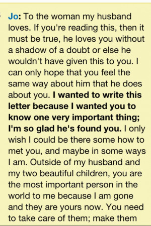 Letter to her from the movie Safe Haven, love this movie of nicholas ...