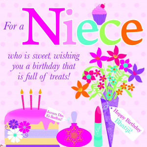 Niece - Bhatiji Birthday Card