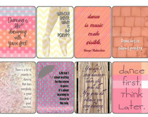 Printable Dance Quote Cards - 300 d pi - for scrapbooking, cards ...