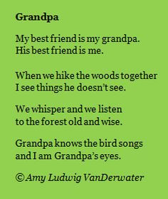 Grandpa And Me Poem | The Poem Farm: Grandpa & Killing Darlings ...