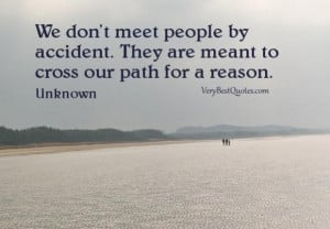 Meet people quotes we dont meet people by accident. they are meant to ...