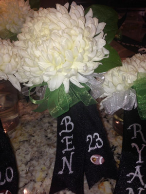 Football Senior Night mom Corsage: Football Senior Night Ideas, Senior ...