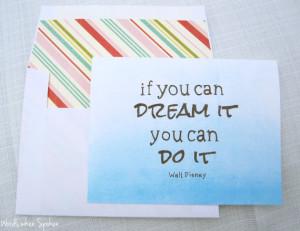 Graduation Card - If You Can Dream It, You Can Do It - Walt Disney ...