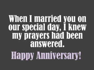 Christian Anniversary Messages for Wife or Husband