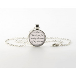 Necklaces / Pendants > Mother of Groom Wedding Quote Pendant