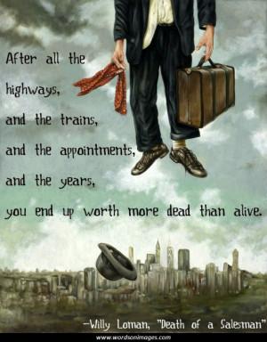 Salesman Quotes Motivational Death of a Salesman Quotes