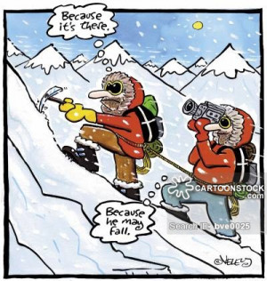 mountain climbing cartoons, mountain climbing cartoon, funny, mountain ...