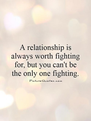 What is worth fighting for