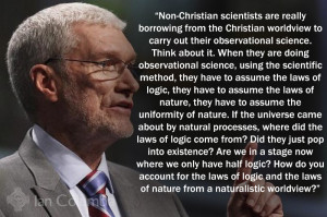 Here is one of the best quotes on the Christian worldview by Ken Ham ...